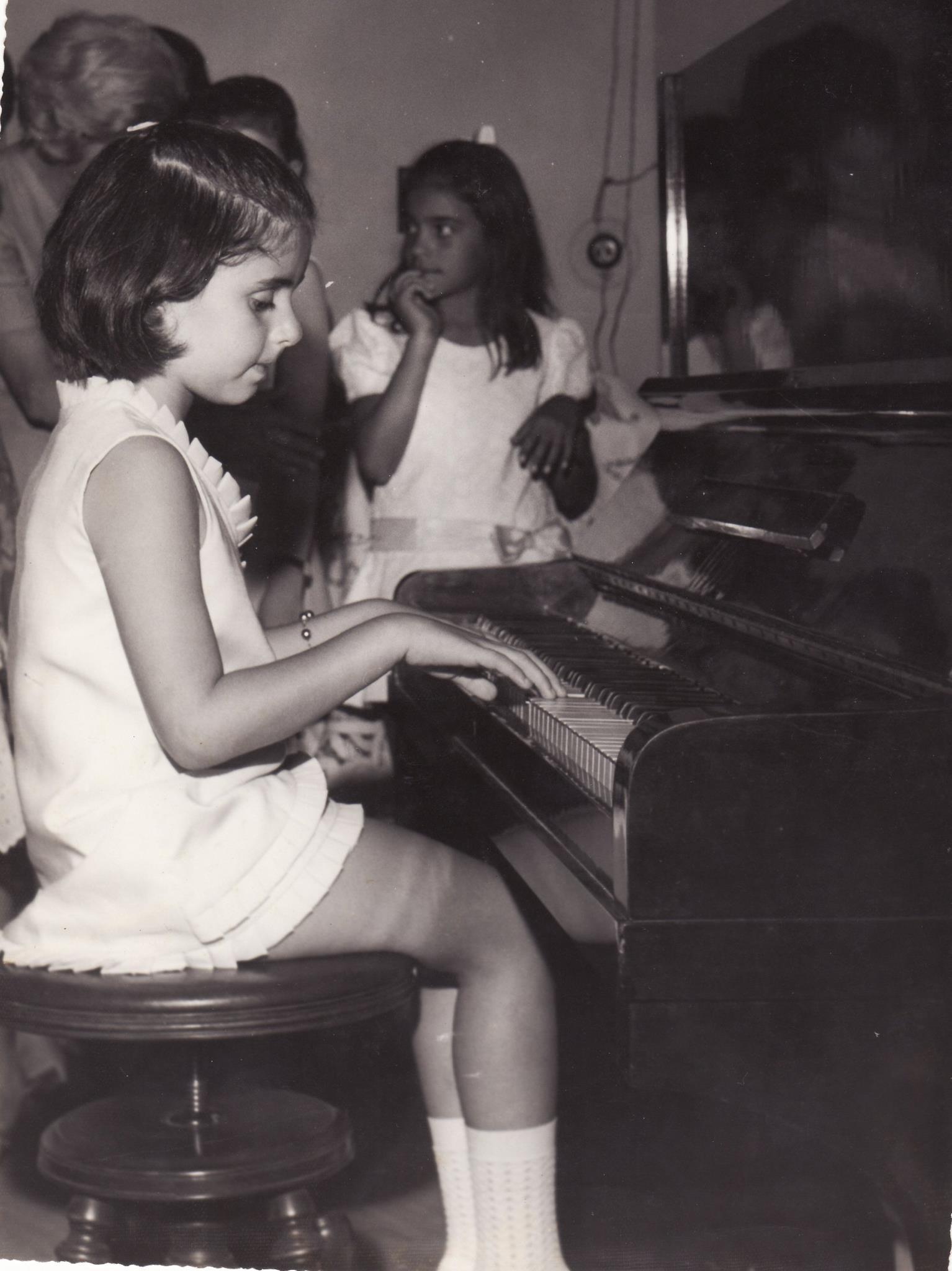 Minha primeira audição de piano, 1970