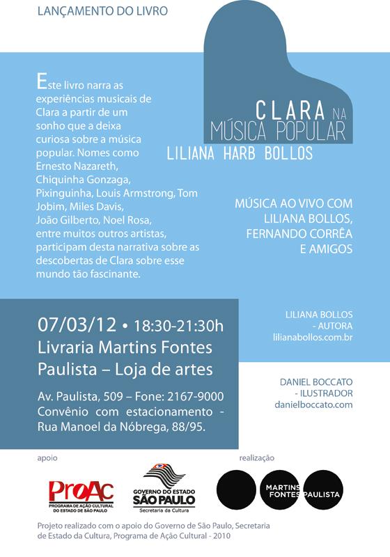Novo Lançamento do livro Clara na Música Popular - 07.03.12