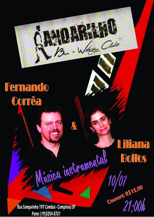 Liliana e Fernando no Projeto Instrumental do Andarilho Bar 10/7/12